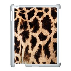 Yellow And Brown Spots On Giraffe Skin Texture Apple Ipad 3/4 Case (white) by Amaryn4rt