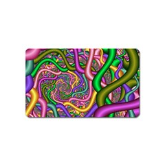 Fractal Background With Tangled Color Hoses Magnet (name Card) by Amaryn4rt