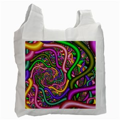 Fractal Background With Tangled Color Hoses Recycle Bag (one Side) by Amaryn4rt