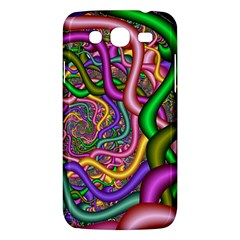 Fractal Background With Tangled Color Hoses Samsung Galaxy Mega 5 8 I9152 Hardshell Case  by Amaryn4rt