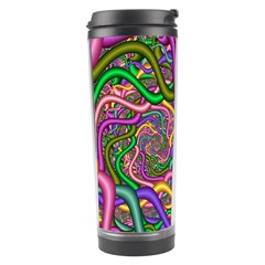 Fractal Background With Tangled Color Hoses Travel Tumbler by Amaryn4rt
