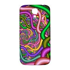 Fractal Background With Tangled Color Hoses Samsung Galaxy S4 I9500/i9505  Hardshell Back Case