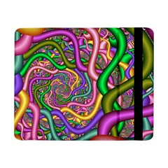 Fractal Background With Tangled Color Hoses Samsung Galaxy Tab Pro 8 4  Flip Case by Amaryn4rt