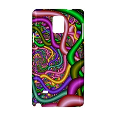 Fractal Background With Tangled Color Hoses Samsung Galaxy Note 4 Hardshell Case by Amaryn4rt