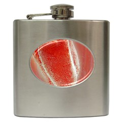Red Pepper And Bubbles Hip Flask (6 Oz) by Amaryn4rt