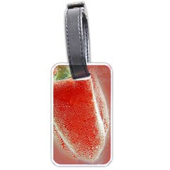 Red Pepper And Bubbles Luggage Tags (one Side)  by Amaryn4rt