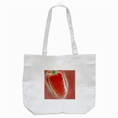 Red Pepper And Bubbles Tote Bag (white) by Amaryn4rt