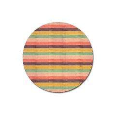 Abstract Vintage Lines Background Pattern Magnet 3  (round) by Amaryn4rt