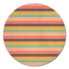 Abstract Vintage Lines Background Pattern Magnet 5  (round) by Amaryn4rt