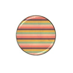 Abstract Vintage Lines Background Pattern Hat Clip Ball Marker by Amaryn4rt
