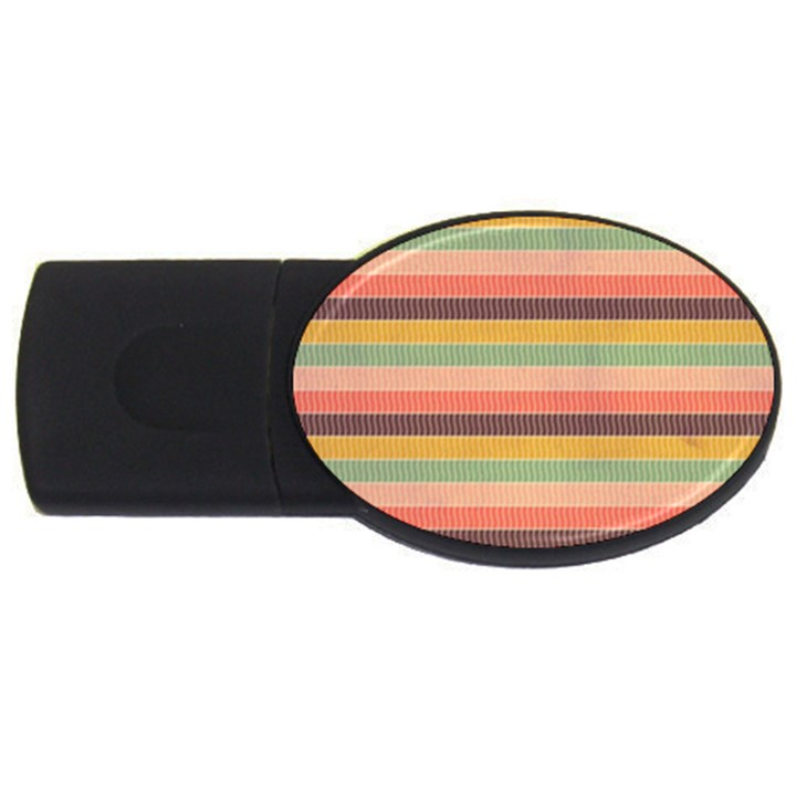 Abstract Vintage Lines Background Pattern USB Flash Drive Oval (4 GB)