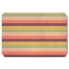 Abstract Vintage Lines Background Pattern Large Doormat  by Amaryn4rt