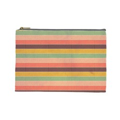 Abstract Vintage Lines Background Pattern Cosmetic Bag (large)