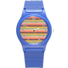 Abstract Vintage Lines Background Pattern Round Plastic Sport Watch (s) by Amaryn4rt
