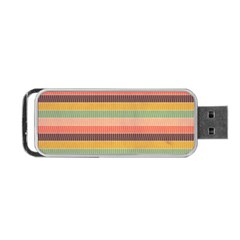 Abstract Vintage Lines Background Pattern Portable Usb Flash (two Sides) by Amaryn4rt