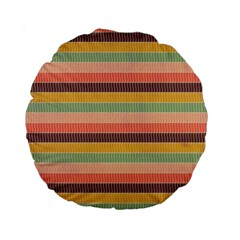 Abstract Vintage Lines Background Pattern Standard 15  Premium Round Cushions by Amaryn4rt