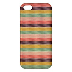 Abstract Vintage Lines Background Pattern Apple Iphone 5 Premium Hardshell Case by Amaryn4rt