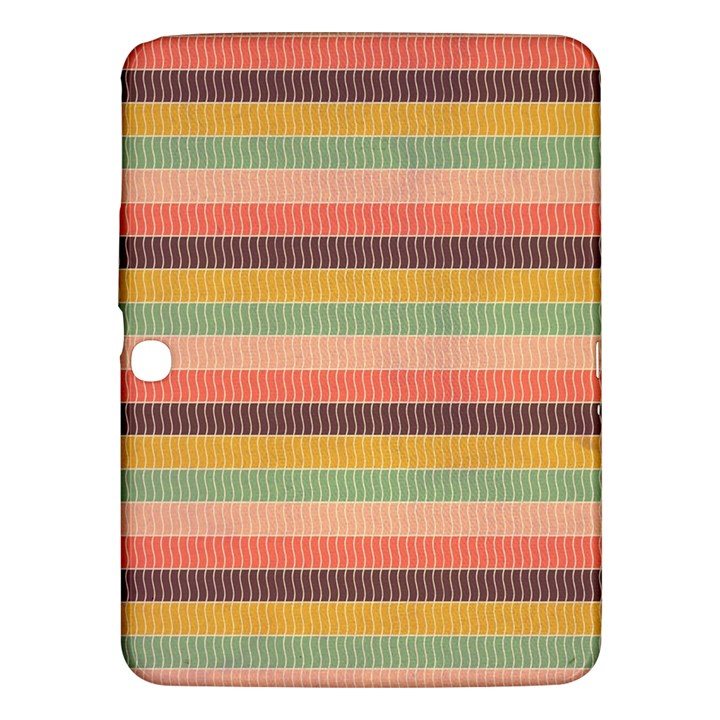 Abstract Vintage Lines Background Pattern Samsung Galaxy Tab 3 (10.1 ) P5200 Hardshell Case