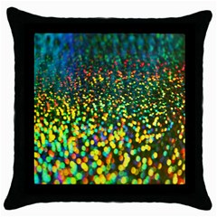 Construction Paper Iridescent Throw Pillow Case (black) by Amaryn4rt