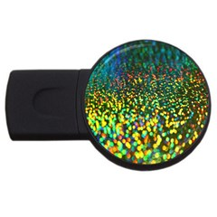 Construction Paper Iridescent Usb Flash Drive Round (2 Gb) by Amaryn4rt