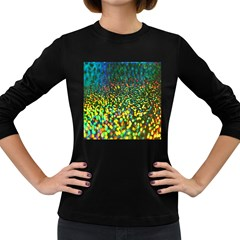 Construction Paper Iridescent Women s Long Sleeve Dark T Shirts by Amaryn4rt