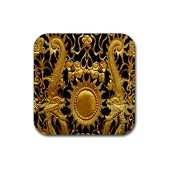 Golden Sun Rubber Square Coaster (4 Pack)  by Amaryn4rt