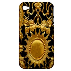 Golden Sun Apple Iphone 4/4s Hardshell Case (pc+silicone) by Amaryn4rt