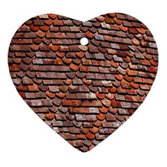 Roof Tiles On A Country House Ornament (heart) by Amaryn4rt