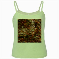 Roof Tiles On A Country House Green Spaghetti Tank by Amaryn4rt