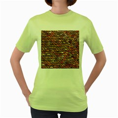 Roof Tiles On A Country House Women s Green T Shirt by Amaryn4rt