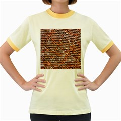 Roof Tiles On A Country House Women s Fitted Ringer T Shirts by Amaryn4rt