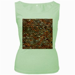 Roof Tiles On A Country House Women s Green Tank Top by Amaryn4rt