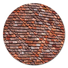 Roof Tiles On A Country House Magnet 5  (round) by Amaryn4rt