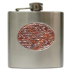 Roof Tiles On A Country House Hip Flask (6 Oz) by Amaryn4rt