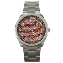 Roof Tiles On A Country House Sport Metal Watch by Amaryn4rt