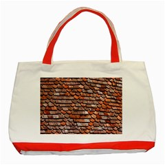 Roof Tiles On A Country House Classic Tote Bag (red) by Amaryn4rt