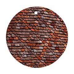 Roof Tiles On A Country House Round Ornament (two Sides) by Amaryn4rt