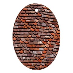 Roof Tiles On A Country House Oval Ornament (two Sides) by Amaryn4rt