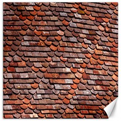 Roof Tiles On A Country House Canvas 12  X 12   by Amaryn4rt