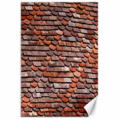 Roof Tiles On A Country House Canvas 24  X 36  by Amaryn4rt