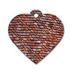 Roof Tiles On A Country House Dog Tag Heart (Two Sides) Back