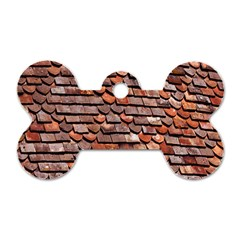 Roof Tiles On A Country House Dog Tag Bone (two Sides) by Amaryn4rt