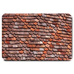 Roof Tiles On A Country House Large Doormat  by Amaryn4rt