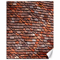Roof Tiles On A Country House Canvas 11  X 14   by Amaryn4rt
