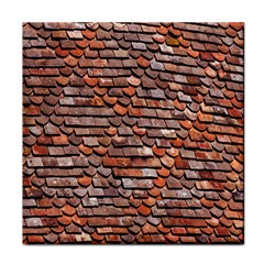 Roof Tiles On A Country House Face Towel by Amaryn4rt