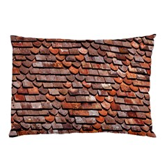 Roof Tiles On A Country House Pillow Case (two Sides) by Amaryn4rt