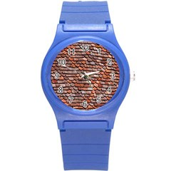 Roof Tiles On A Country House Round Plastic Sport Watch (s) by Amaryn4rt