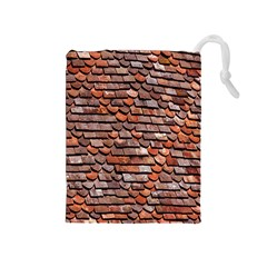 Roof Tiles On A Country House Drawstring Pouches (medium)  by Amaryn4rt