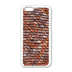 Roof Tiles On A Country House Apple Iphone 6/6s White Enamel Case by Amaryn4rt