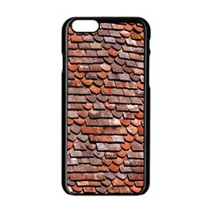 Roof Tiles On A Country House Apple Iphone 6/6s Black Enamel Case by Amaryn4rt
